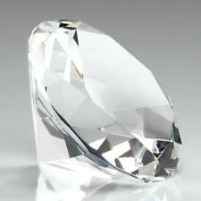 Clear Diamond Glass Paperweights