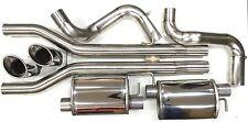 """Scarico Sportivo Sistema scarico AUDI RS6 4F 76mm 3 """" acciaio inox senza VSD"""