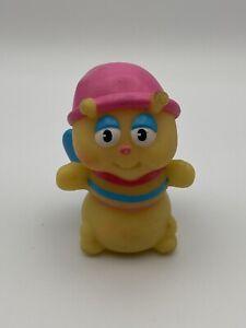 Vintage Glow Worm Figure Toy Glo Friends Finger Puppets Glow in Dark 80s