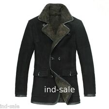 Custom Tailor Made All Size Blazer Coat Fur 100% Suede Sheep LEATHER JACKET EDH