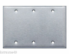 Westgate Ssc35 Three Gang Blank Stainless Steel Wallplate
