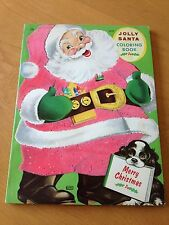 JOLLY SANTA COLORING BOOK  LOWE  1961  5927  UNCOLORED
