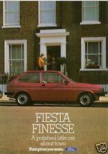 Ford Fiesta Finesse Mk1 Limited Edition 1983 UK Market Sales Brochure