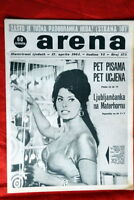 SOPHIA LOREN ON COVER 1964 RARE EXYU MAGAZINE