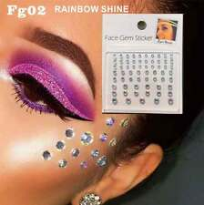 Diamond Rainbow Face Gems Stick on Face Jewels Body Glitter Crystals Rhinestones