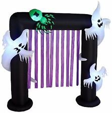 Halloween Air Blown LED Inflatable Yard Party Decoration Ghosts & Spider Archway