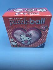 Hello Kitty 3d Heart Puzzle Ball - Holding Heart (Ravensburger) NEW NIP 11cm