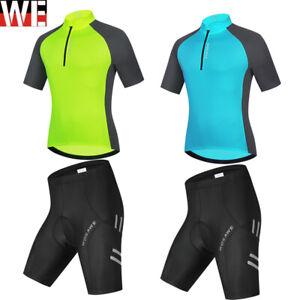 2021 Mens Cycling Clothing Bicycle Short Sleeve Jerseys Shorts Sets Training Kit