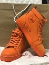 Christian Louboutin Men's Louis Orlato Flat Suede High Top Sneakers - Size 41
