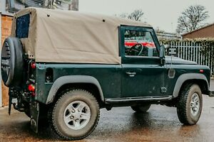 "Land Rover Defender 90"" Full Sand PVC Hood - Exmoor"