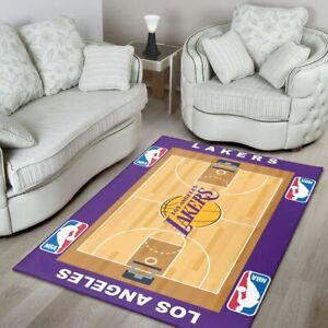 Rug For Room Los Angeles Lakers Nba Sport Custom Area Rug Floor Home Decor
