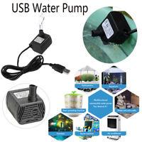 DC 5V 3W Submersible Water Pump 200L/H Fish Tanks Fountain Aquarium Circulating