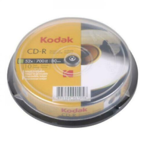 Kodak CD-R | Recordable Blank CD Discs + Sleeves 5/10 Pack | 80 Min 52x 700MB