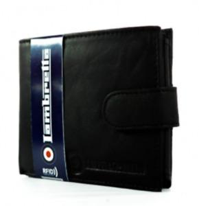 Lambretta Black Leather Wallet Press Stud Fastener