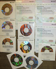Lot of 8 New Microsoft Office 2000 Professional 2002  XP Small Business 2003 OEM
