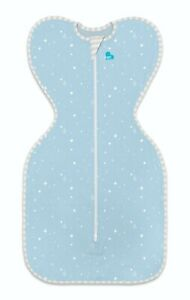 LOVE TO DREAM SWADDLE UP LITE 0.2TOG - 3 SIZES - BLUE - ZIP UP BABY SWADDLE- NEW