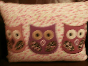 Owl Decorative Pillow - Pink by Elephant Island