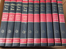 Lot of 10 Collier's Encyclopedia Year Book 1967-1976 Covering the Year 1966-1975