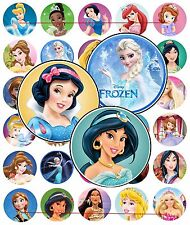 60 Precut Disney PRINCESS Bottle Cap Images A