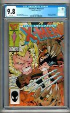 "Uncanny X-Men #213 (1987) CGC 9.8  WP  Claremont  ""Wolverine vs. Sabretooth"""