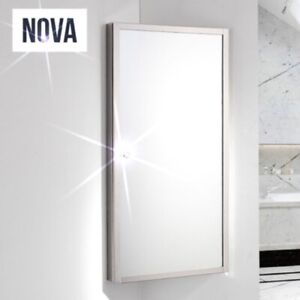 Corner Mirror Wall Cabinet Cupboard Bathroom Medicine Storage Stainless Steel