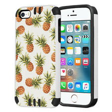 Hybrid Dual Layer Slim Armor Case for Apple iPhone SE / 5S / 5 - Pineapple