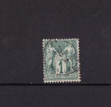 timbre France  Sage  1c  vert      num: 61    oblitéré