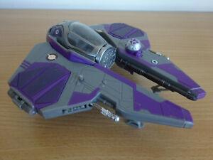 STAR WARS Transformers Mace Windu Jedi Starfighter With Missiles 2007 Hasbro