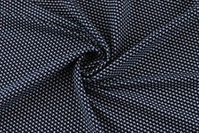 Tessuto jacquard geometrico blu bianco stretcSTOFFA AL METRO TESSUTO A METRAGGIO