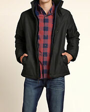 HOLLISTER BY ABERCROMBIE ALL WEATHER HOODED JACKET MENS L DARK NAVY/BLUE NWT