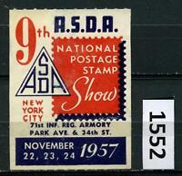 Dealer Dave Cinderella Stamp 1957 9TH ASDA NATIONAL POSTAGE STAMP SHOW (1552)