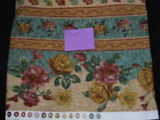 1 Yard Quilting Sewing Fabric Flannel English Cottage NorthCott Floral
