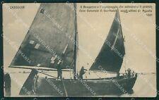 Venezia Chioggia Barca Bragozzo Garibaldi cartolina QT4050