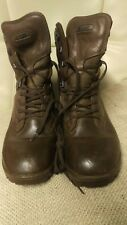 YDS British Military Issue Brown Leather Boots Sz 7W Army Cadet MTP