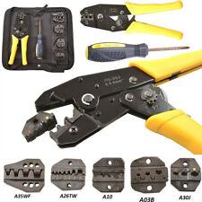 Crimping Tool Kit Terminal Ratchet Plier Crimper 5 Interchangeable Die Sets