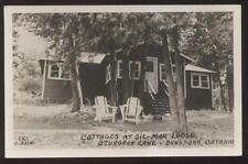 RP Postcard DUNSFORD Ontario/CANADA  Sturgeon Lake Gil-Mar Lodge Cottage 1930's