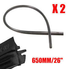 "2x 26"" Car Auto Frameless Windshield Wiper Blade Rubber Refill Strips Universal"