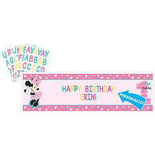 MINNIE MOUSE Fun to Be One GIANT CUSTOMIZABLE BANNER ~ 1st Birthday Supplies