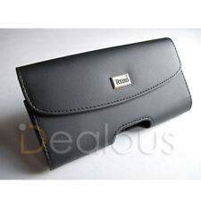 LG Stylo 4 / Q Stylus Premium Black Leather Holster Pouch Case Cover Belt Clip