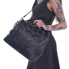 Vixxsin pentacult Tachuelas Manija superior Bolso Punk gótico Wicca Vegano Cuero Bolso