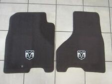 DODGE RAM Crew Cab Bark Brown Front Carpet Floor Mats NEW OEM MOPAR