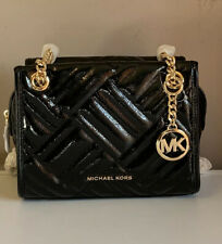 Michael Kors Kathy Small Quilted Patent Leather Black NWT
