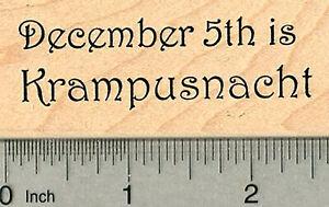 Krampusnacht Rubber Stamp, December 5th H37815 WM