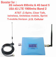 LTE booster 850mhz+1900mhz AT&T Sprint Verizon Tmobile 4G signal repeater