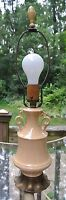 Vintage Ceramic  Trophy Lamp with Brass Base