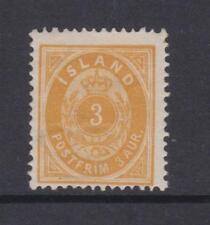 Iceland - SG 20c - l/m - 1891, 1895 - 3a yellowish buff - perf . 14 x 13 1/2