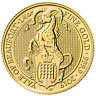 2019 U.K. 25 Pound 1/4 oz Gold Queen's Beast Yale of Beaufort BU