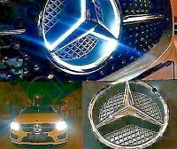 mercedes-benz front grill star emblem LED Fits A,B,E,ML,CLS,R,GLK Chrome