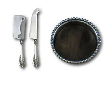 Grande Baroque Wallace Sterling Silver Cheese and Wine Mikasa Gift Serving Set