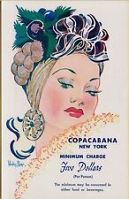 VTG Jules Podell's Copacabana Club 10 East 60th St New York City NY Postcard